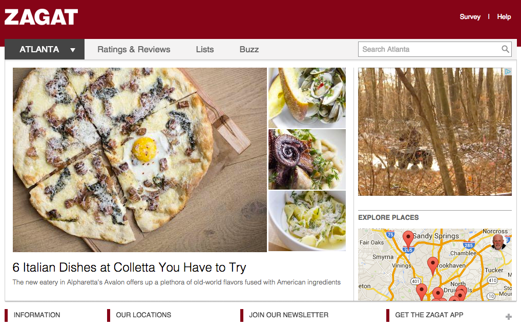 Zagat is the oldest restaurant rating and review service.